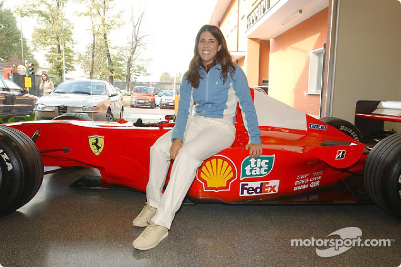 Jennifer Capriati on track at Fiorano: Jennifer and the Ferrari F1-2000