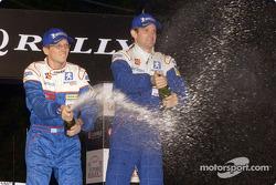 The podium: race winner Marcus Gronholm