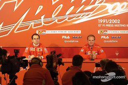 Press conference with Rubens Barrichello
