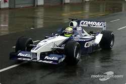 Ralf Schumacher testing the new 2002 WilliamsF1 BMW FW24