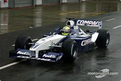 Ralf Schumacher testing the new 2002 WilliamsF1 BMW FW24