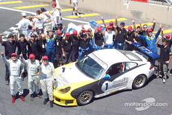 The Porsche 911 GT3 of the Stuttgart Motorsport, driven by Raul Boesel, Flavio Trindade and Regis Schuch, won the 30th 1000 Miles of Brazil