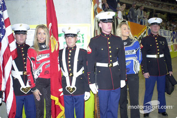 The SX girls with the honor guard