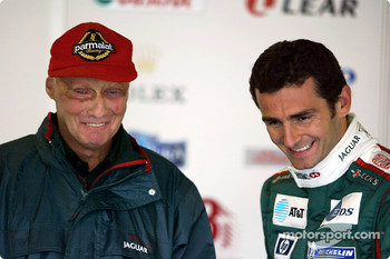 Niki Lauda and Pedro de la Rosa
