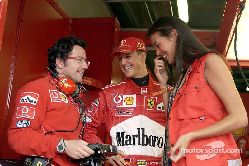 Luca Baldisserri, Michael Schumacher and the lovely Megan Gale