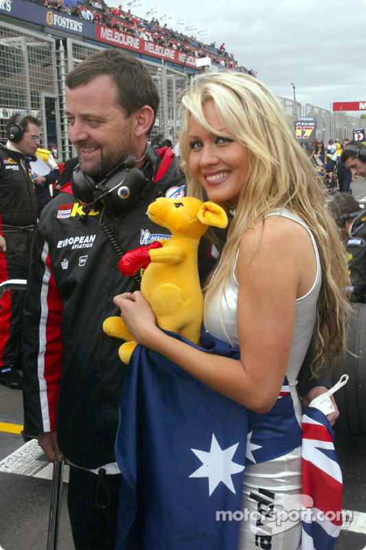 Paul Stoddart and Sarah Jane on the grid