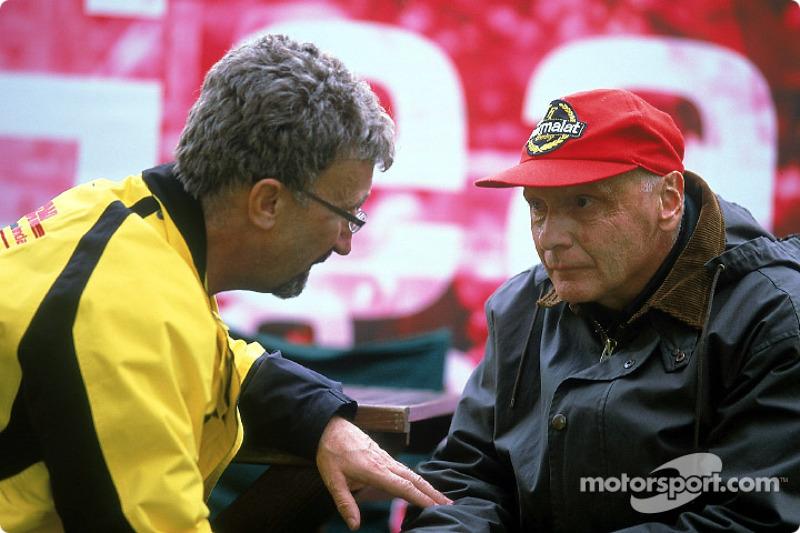 Eddie Jordan and Niki Lauda