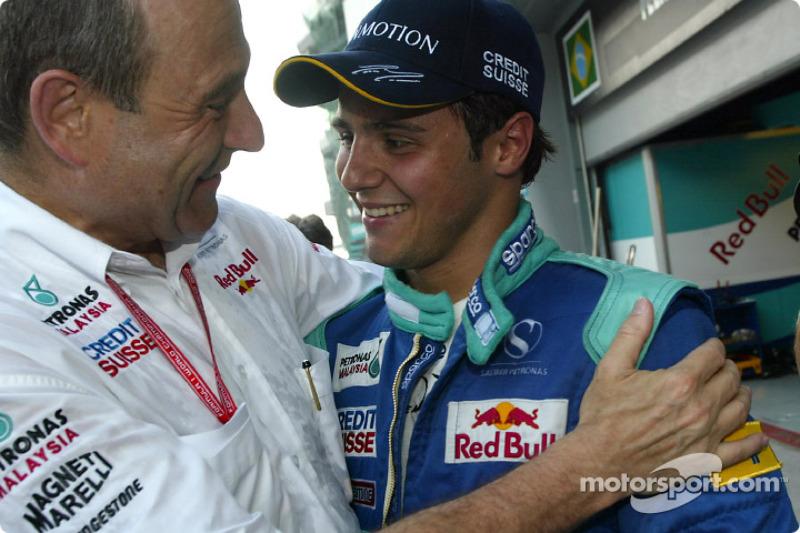 Peter Sauber and Felipe Massa