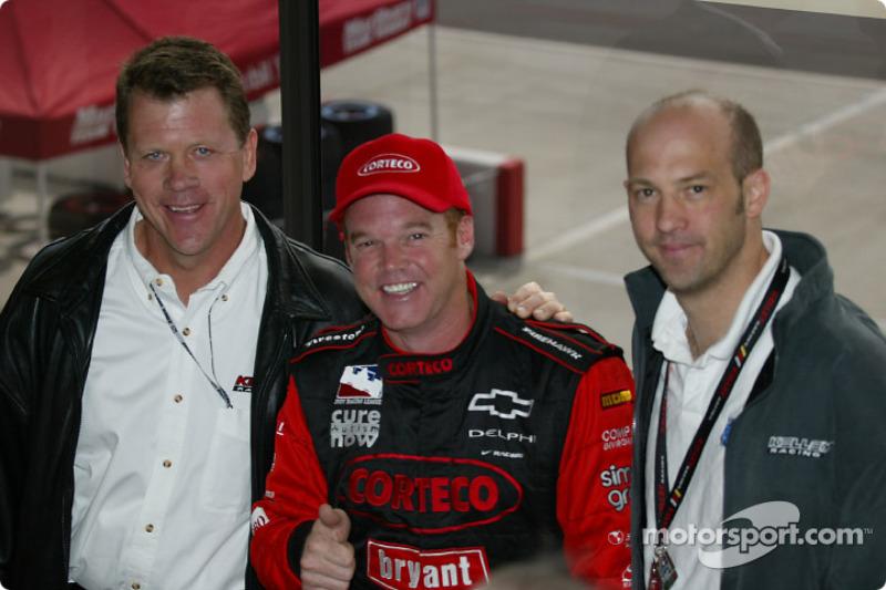 Tom Kelley, Al Unser Jr. and Anthony Edwards