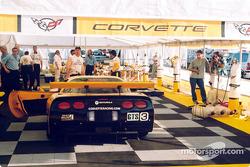 Team Corvette garage area