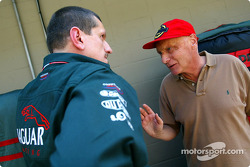 Guenther Steiner and Niki Lauda