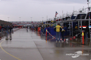 The Happy hour garage is empty when it rains