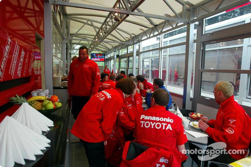 Another new motorhome at Imola: the Panasonic Toyota Racing Motorhome