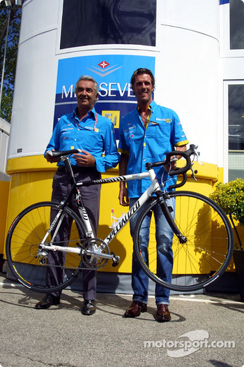 Cyclist Mario Cipollini and Flavio Briatore