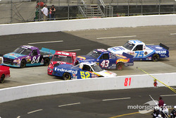 Ken Schrader and Bill Lester tangle