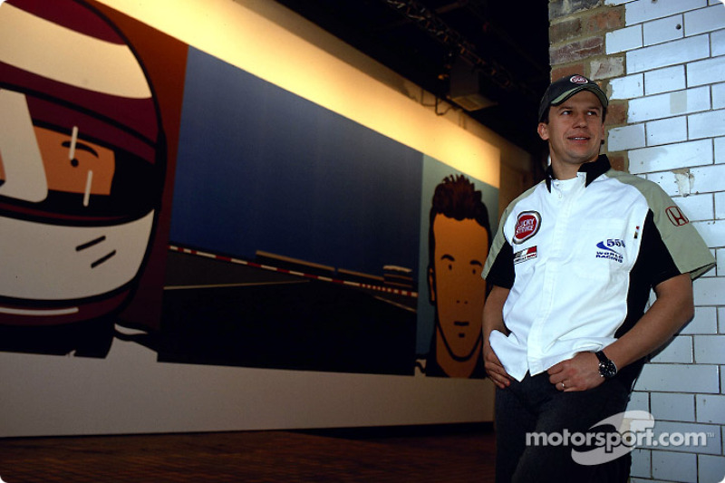 British artist Julian Opie brings together Art and Formula 1 racing: Olivier Panis