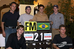 Felipe Massa and his brazilian guests