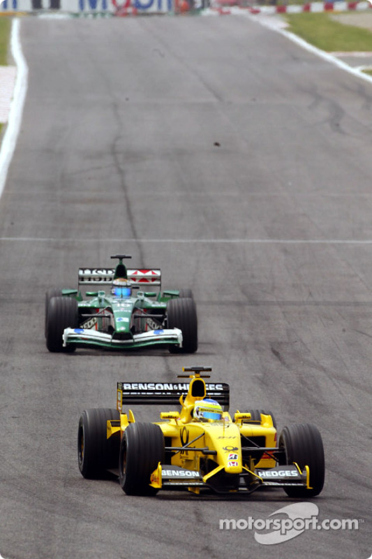 Giancarlo Fisichella and Eddie Irvine