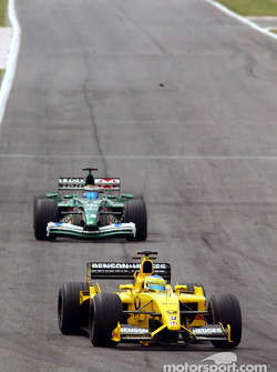 Giancarlo Fisichella and Eddie Irvine