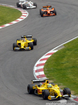 Giancarlo Fisichella and Takuma Sato