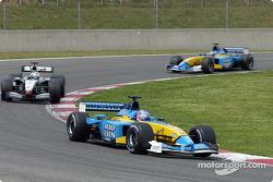 Jenson Button, David Coulthard and Jarno Trulli