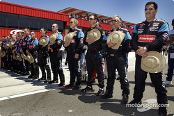 The Rubbermaid Team showed tribute to Owner Jack Roush before the race with his trademark the straw hat