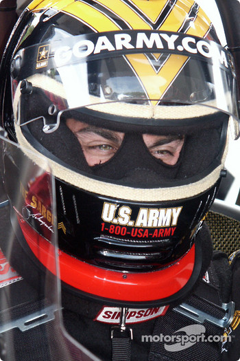 Tony Schumacher in cockpit