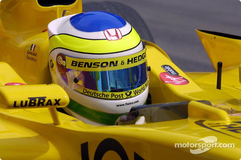 Giancarlo Fisichella on the starting grid