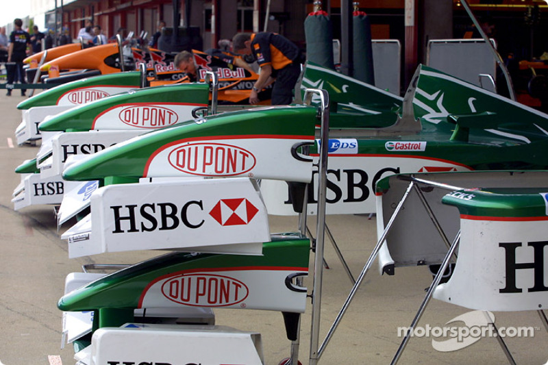 Pitlane, late Saturday afternoon