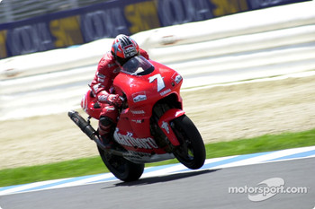 Carlos Checa wheelies