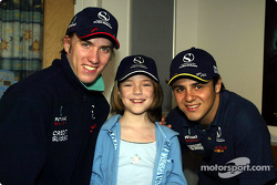 Visit of the Sainte-Justine Children hospital of Montreal: Nick Heidfeld and Felipe Massa