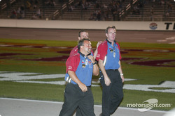 Cheever Indy Racing crew members celebrating pole