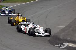 Olivier Panis, Takuma Sato and Felipe Massa