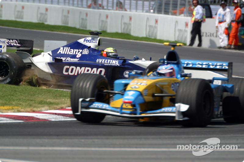 Ralf Schumacher in the grass