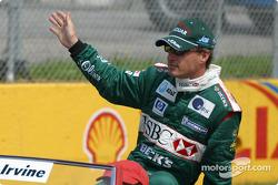 Drivers' parade: Eddie Irvine