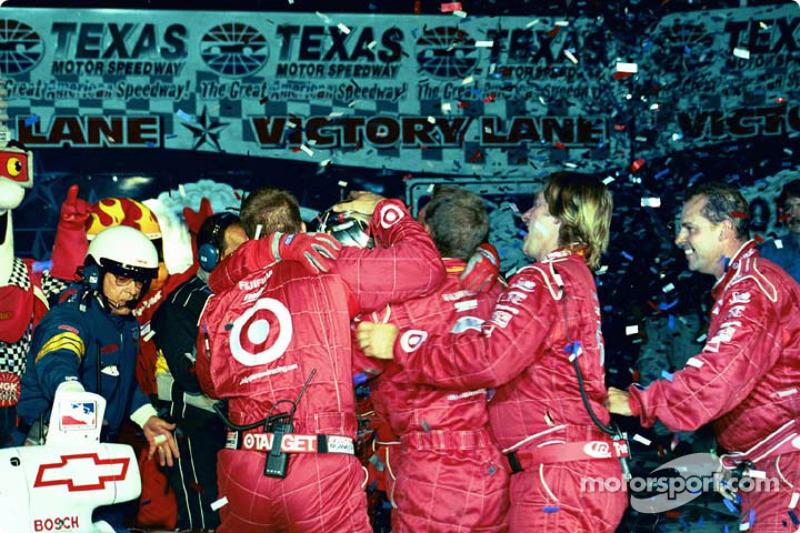 Jeff Ward celebrating victory