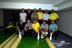 Bowling night with the DTM drivers