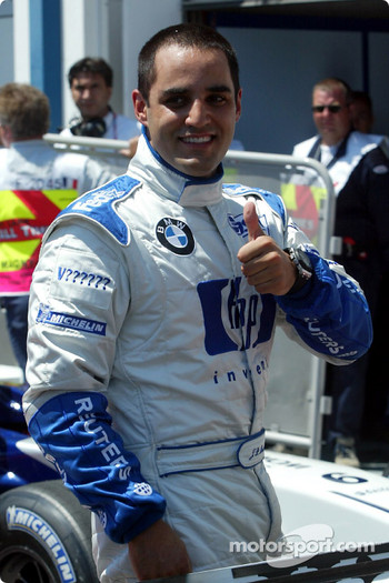Pole winner Juan Pablo Montoya