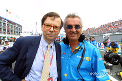 Louis Schweitzer and Flavio Briatore