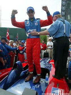 David Brabham celebrating