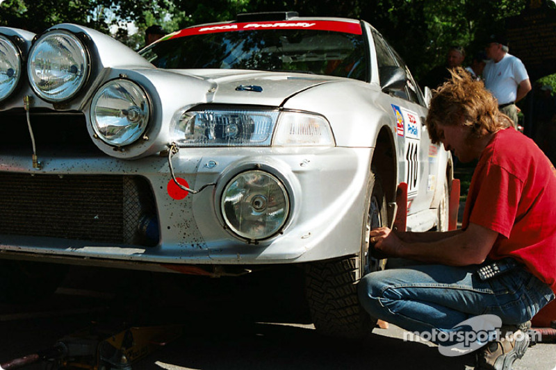 A tire change