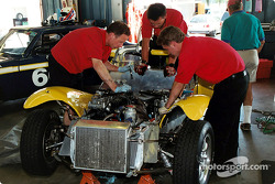 Team work on a Lotus 7
