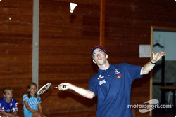 Visit at the Malmedy Handball Club and the Badminton Club de Malmedy: Nick Heidfeld