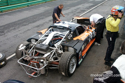 Rear of Mosler exposed