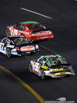 Jeremy Mayfield, Kurt Busch and Greg Biffle