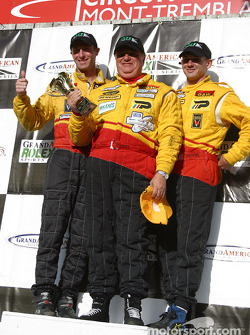The podium: SRP II winners Darren Law, Armando Trentini and Andy Lally