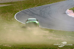 The Racer's Group Porsche GT3 R spins