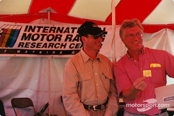 Fangio selects the winning ticket for the International Motor Racing Research Center