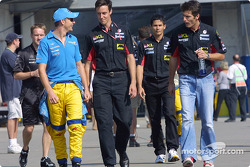 Jenson Button, Alex Yoong and Mark Webber