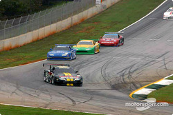Tomy Drissi leads a group of cars